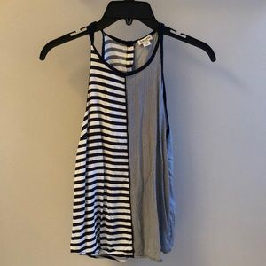 Splendid Size XS Navy and White striped tank